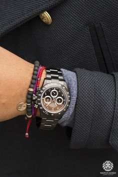 Black Rolex Daytona with Arabic/Hindi numeral dial, made byBrevetPlus.