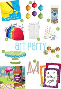 birthday parti, art parti, art party ideas, birthday idea, paint parti, painting birthday party ideas, art themed birthday party, paint birthday party theme, parti idea