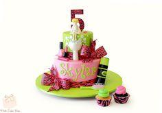 Skylar's 5th birthday cake - Spa Party Theme!