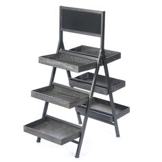Collapsible Metal Display Stand with Chalkboard, available in different sizes. Contact us today for more information. | http://www.willowgroupltd.com/Contact.aspx