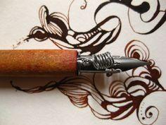 gentian:ink:calligraphy:nib:pen