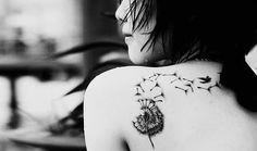 Dandelion to birds Tattoo