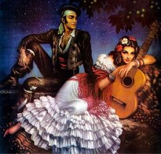 pintura mexicana, mexican art, men's clothing, mexican calend, viva mexico, gypsi, artejesus helguera, jesú helgueraart, calendar