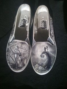 Nightmare Before Christmas Custom Made Shoes. $175.00, via Etsy.