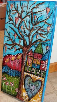 Scatter Love--mixed media piece