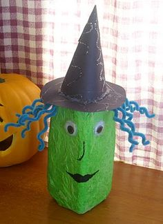 Halloween Craft Witch 1/2gal Milk Jug