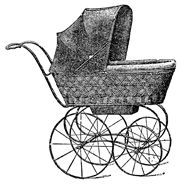 antique baby buggy clipart