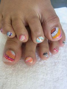 summer toenails designs, marble nails, pedicure ideas for summer, toenail polish ideas, pretti pedicur, nail design, summer toenail polish, marbl nail, summer toe nail pedi