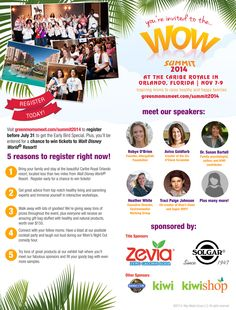 Join moms in Orlando at the @Moms Meet #WOWsummit at the beautiful Caribe Royale resort this November. You'll hear from amazing speakers, attend interactive workshops, sample products, win lots of prizes, and walk away with a goody bag worth over $150. Register before July 31, to get the early bird discount and be entered to win tickets to Walt Disney World® Resort! http://www.greenmomsmeet.com/summit2014