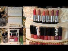 DIY Make Cute Makeup and Lipstick Holder Display Storage by BeautySplurge
