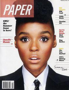 Janelle Monae: Paper Magazine cover Summer 2009