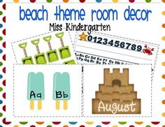 This packet includes several pieces to turn your classroom into a Beach Theme classroom! In this packet you will find: *Student desk nameplat...