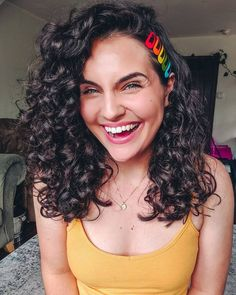 @_curlytay on Instagram: Never a better time to play around with rainbow hair clips!🌈, Naturally Curly, Curly Hair, Wavy Hair, Curly Hairstyle, Naturally Curly Hairstyle, 3a curls, Curls, Curly Girl Method, Big Curly Hair, Long Curly Hair