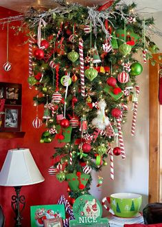 This is awesome! Upside down Christmas Tree.