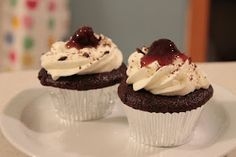 Black Forest Cupcakes, yum.
