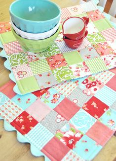 Quilted place mats - colour inspiration!
