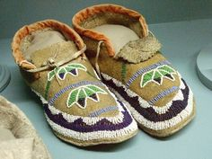 Native American moccasins Plains tribes 19th century