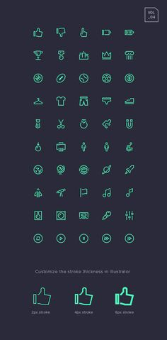 Stroke Gap Icons Set Vol.4