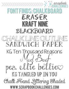 {Free} Chalkboard Fonts