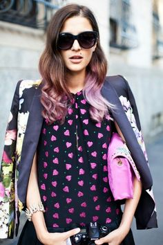 pink ombre hair - like the light colors