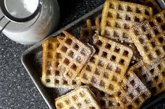 essential raised waffles // These were a waffle game-changer for me. This recipe creates waffles that are crispy on the outside and light and fluffy on the inside. And the flavor can't be beat! The batter does have to sit overnight  but overall they don't require much effort.