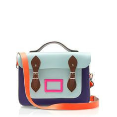 Love the color blocking on this bag.  The Cambridge Satchel Company® for crewcuts Downing satchel