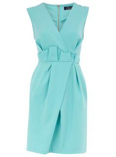 Aqua dress.