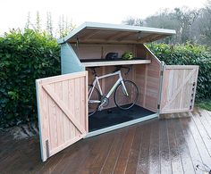The shed story: bicycle shed Spokeshed 3 solid timber bike shed | The Bike Shed Company | ESI