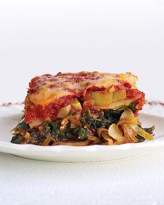 Light Spinach and Leek Lasagna - Martha Stewart Recipes