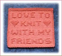 Love To Knit With My Friends Free Knit Dishcloth Pattern