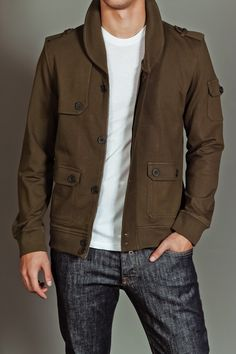 $54 MG Black Label Military Jacket. Not huge into the military style but it IS a sharp looking jacket.