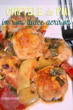 Chiftele de pui in sos dulce acrisor - RETETE DUKAN