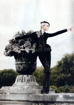 McQueen. Photographed by Karl Lagerfeld.