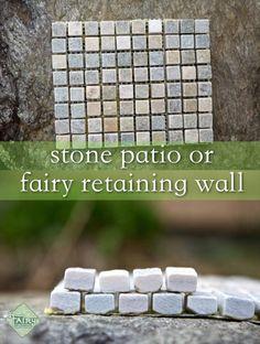 Fairy Patio or retaining wall