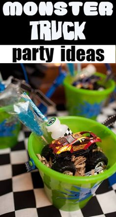 Awesome Monster Truck party for any little boy who loves trucks and cars!  Lots of fun party ideas.