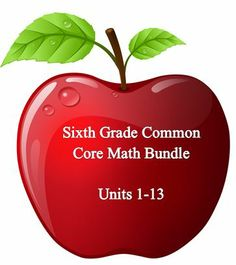 Contains 95 lesson plans that cover the entire sixth grade math common core curriculum.  Our units are where you ALSO get our vocabulary quizzes, study guides and unit tests that assess specifically what is required in the core.  Scope and sequence is defined for the whole year for less planning!