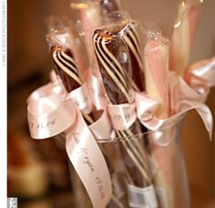 Stick candy... good wedding favor? You can get different colors too.