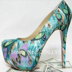 wedding shoes, high heel, woman shoes, pumps, platform shoes, heel pump, heels, platform high, peacock
