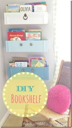 BOOKSHELF FROM A DRAWER!