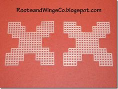 Free Plastic Canvas Ornaments | Here is your basic template. You can buy squares of plastic canvas ...