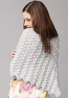 Patons Lace & Lace Sequin - Chevron Lace Shawl or Scarf (knit)