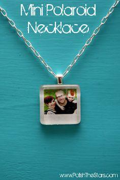 mini polaroid necklace
