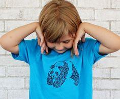 Panda Bear T-shirt by CausticThreads.