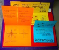 Foldables Organizers Bundle Unit 1 8th Grade Common Core Math Geometry