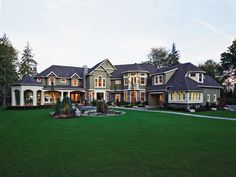 Lydelle Luxury Craftsman Home  from houseplansandmore.com