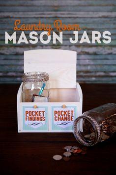 Laundry room mason jars