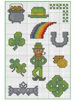 Try-It Tuesday: Share the luck of the Irish. Stitch these festive designs for cards, decorations, gift tags or whatever your imaginat...