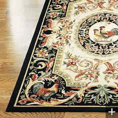Rooster Hand-hooked Wool Area Rug