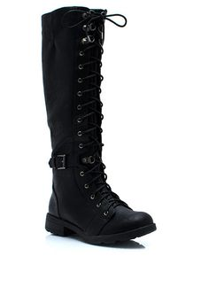 Tall Or Nothing Lace-Up Boots in Purple $63.10