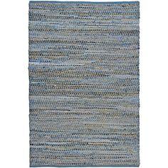 Hand-woven Blue Jeans Denim Rug (5' x 8')
